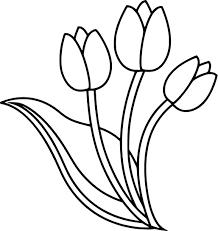 Coloriage Tulipe À Imprimer Destiné Tulipe A Dessiner Dessinsite