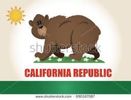 Comic California Flag Cartoon Bear Vector