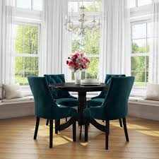 Pair Of Teal Blue Velvet Dining Chairs With Buttonted Backs - Kaylee Small Round Ding Table In Black With 4 Teal Blue Velvet Chairs Rhode Island Kaylee Remarkable Navy Set Tufted Uptown Chair Silver Leaf Including Modern Lovely Pink Upholstered Gold Room Metal Frame Of 2 Extraordinary Covers Slipcovers A Rustic Elegant Thanksgiving Eclectic Living Room Home White Extendable 6 Vivienne Jenna Belinda Ding Chair Navy Khamila Fniture Store Kallekoponnet Kitchen Design Tiffany Slate Amusing
