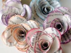 Paper Flowers Great For Cottage Chic Or Rustic Wedding Table Decor