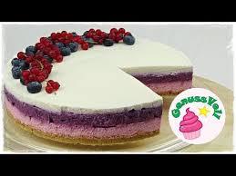 cremige heidelbeer johannisbeer torte ohne backen no bake cheesecake ohne gelatine