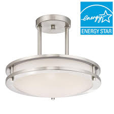Westinghouse Pre Lit Christmas Tree Replacement Bulbs by Westinghouse Brushed Nickel Led Dimmable Semi Flush Mount Light