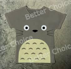 Track Ship New Hot Fresh Vintage Retro T Shirt Top Tee Grey Totoro Noir