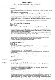 Senior Medical Assistant Resume Samples | Velvet Jobs 89 Examples Of Rumes For Medical Assistant Resume 10 Description Resume Samples Cover Letter Medical Skills Pleasant How To Write A Assistant With Examples Experienced Support Mplates 2019 Free Summary Riez Sample Rumes Certified Example Inspirational Resumegetcom 50 And Templates Visualcv