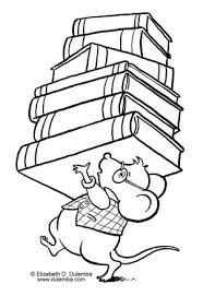 National Library Workers Day Activity Celebrate Picture Books Book Review Mouse With Coloring Page