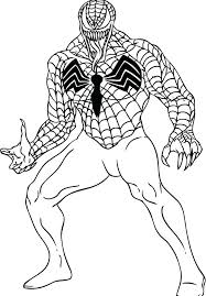 Coloring Pages Spiderman And Batman Spider Man Venom A Pdf Picture