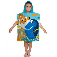 Finding Nemo Bath Towel Set by Finding Nemo Dory Hooded Poncho Towel