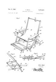 Reclining Lawn Chair With Footrest by Patent Us3414321 Reclining Lawn Chair Google Patents