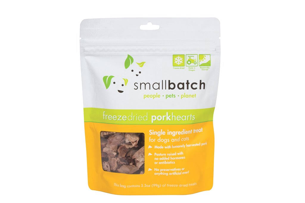 Smallbatch Freeze Dried Hearts Dog Treats, Pork