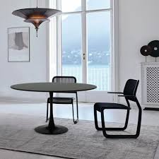 tisch 120 cm rund schwarz weiß für wohnzimmer bar küche restaurant tulip schwarz