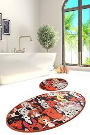 orange wc vorleger und weitere badtextilien günstig