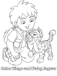 Diego Coloring Pages Free Printable For Kids Online