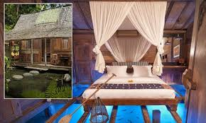 Bali Hotel Room Where You Have The River And Fish Under Your Feet