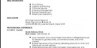 Truck Driver Resume Summary