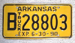American License Plate, Genuine Arkansas