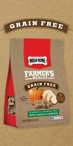 Turkey And Pumpkin For Dog Diarrhea by Amazon Com Milk Bone Farmer U0027s Medley Grain Free Dog Treats With