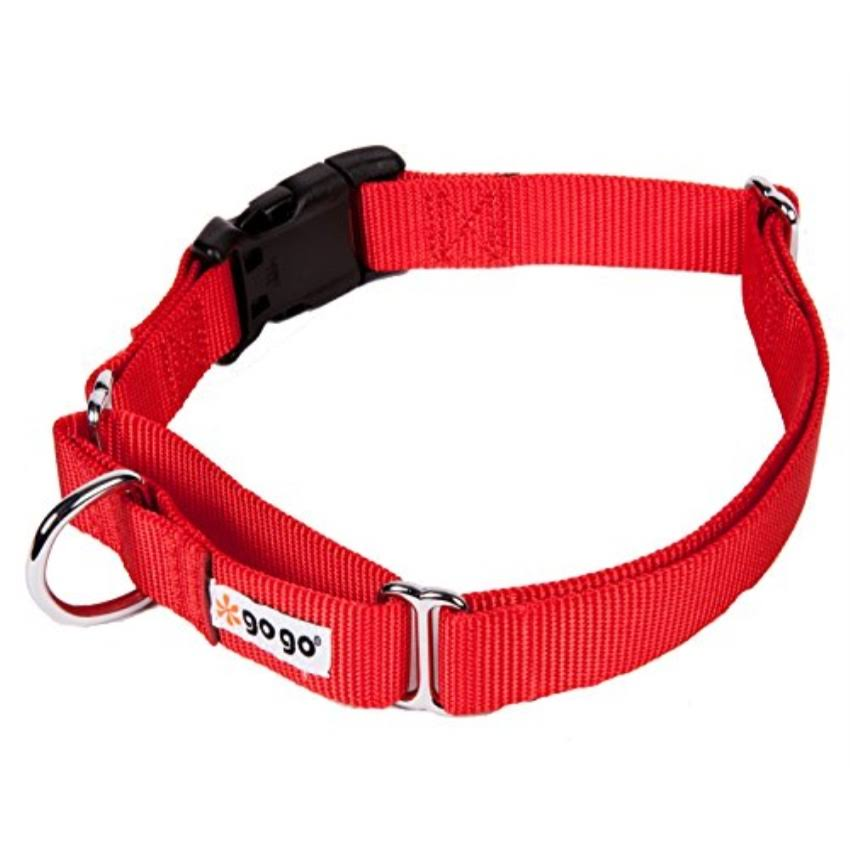 "Gogo Martingale Adjustable Dog Collar - Red, 1"" x 20.5-27.5"", Large"