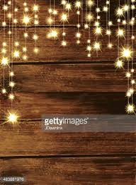 Wooden Background With String Lights Vector Art
