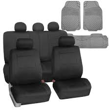BESTFH: Universal Waterproof Neoprene Seat Cover Black W/ Gray Heavy ...