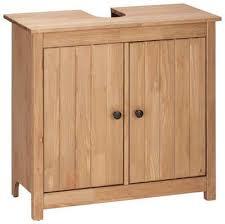 home affaire waschbeckenunterschrank westa breite 62 cm badezimmerschrank aus massivholz kiefernholz metallgriffe