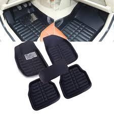 5PC UNIVERSAL BLACK Car Floor Mats FloorLiner Front&Rear Carpet All ...