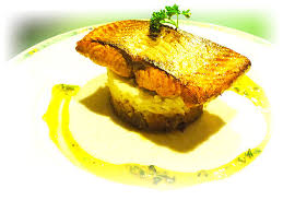 recette cuisine gastro pavé de saumon au riz basmati brumoise de légumes façon thaïe