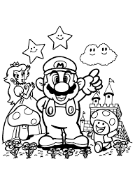 Dessins A Imprimer De Mario Bros Luxe En Ligne Coloriage Super Mario