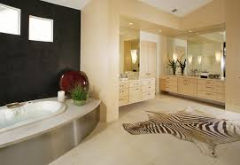 Modern Master Bathrooms 2015 by Spacious Wood And White Modern Bathroom With Stand Alone White Tub