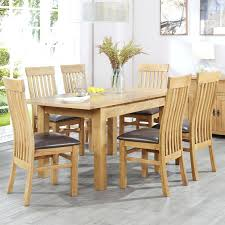 100 Oak Table 6 Chairs Kitchen And Extendable Solid Dining And