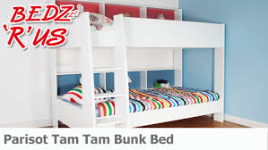 parisot tam tam white bunk bed bedzrus youtube
