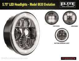 100 Truck Accessories.com 575 LED HeadlightsModel 8630 W Daytime Running Light