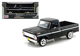 1969 Ford F-100 Pickup Truck Black 1/24 Scale Diecast Model By Motor ... 1956 Ford F100 Pickup Truck 124 Scale American Classic Diecast World Famous Toys Diecast Trucks F150 F 1953 Car Package Two 143 Scale 2016f250dhs Colctables Inc New 1940 Black 125 Model By First Chevrolet Chevy 2017 Dodge Ram 1500 Mopar Offroad Edition Hobby 1992 454 Ss Off Road Danbury Mint For 1973 Ranger Red White 118