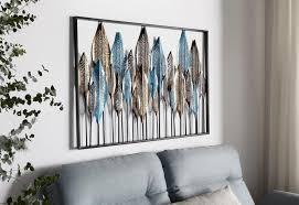 home affaire wanddekoobjekt feder wanddeko wanddekoration aus metall motiv federn kaufen otto