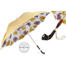 100 Wooden Parasols Pasotti Gold Vintage Womens Umbrella With Flowers