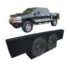 Amazon.com: Fits 01-06 GMC Sierra Non-HD Crew Cab Truck Rockford ... Alpine Swrt12 12 1800w Shallow Mount Subwoofercartruck Sub Best Rated In Car Enclosed Subwoofer Systems Helpful Customer Inch Subwoofer Boxes Twin 10inch Sealed Mdf Angled Truck Enclosure Boxes Kicker Powerstage Install Kick Up The Bass Photo Image Pioneer 10 Inch 1200 Watt Tsswx310 Box Custom Chevy Ck 8898 Ext Cab Speaker 8 Dual Free Engine For 072013 Silverado 1500 Extended Single Swt10s2 1000w Subwoofershallow Stek Shop Rockville Ss8p 400w Slim Underseat Active Powered