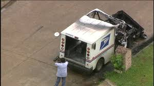 100 Postal Truck Fire Truck Erupts In Flames After Mail Carrier Smells Gas While
