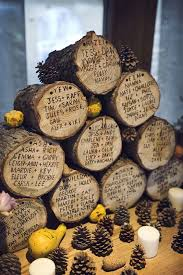 plan de table rondins de bois mariage automne idées plan