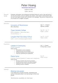 Cv Work Experience For 16 Year Old School Leaver Template Resume Examples No