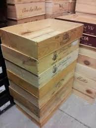 Image Is Loading FLAT HALF SIZE GENUINE FRENCH WOODEN WINE CRATE