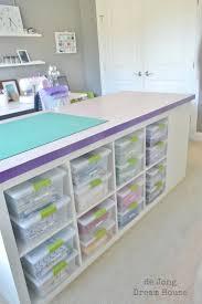 White Hobby Storage Desk Sewing Room Furniture Shelves Craft Organizer Cubbies 683121435809 EBay
