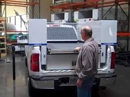 Pickup Bed Tool Boxes by Load U0027n U0027go Pickup Truck Tool Box Youtube