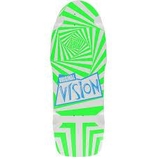 100 Original Vision Old School Reissue Deck White 10 X 30