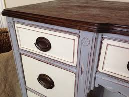 The Contrasting Colors On This Piece Are Still Pretty Stark But Subtle Distressing And Solid Wood Top Anchor Color Scheme Add Elegance