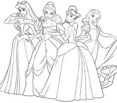 Cute Disney Coloring Pages Print Princess Sheets Free Printable All To Colouring Best Col