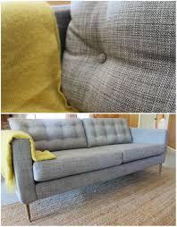 Karlstad Sofa Leg Height by Ikea Hack The Isunda Gray Karlstad With Mid Century Legs And