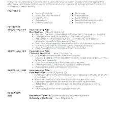 Free Sample Resume Housekeeping Supervisor Examples For Housekeeper Samples Housekeepin