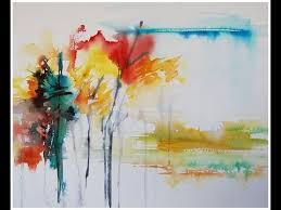 Paint An Abstract Landscape In Watercolor