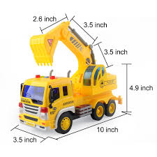 1:16 Engineering Construction Truck Inertial Excavator Digger ...