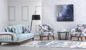 casa padrino designer wohnzimmer 2er sofa seine hellblau hotel möbel