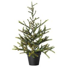 4 Ft Pre Lit Potted Christmas Tree by Fejka Artificial Potted Plant Ikea For Conservatory Christmas